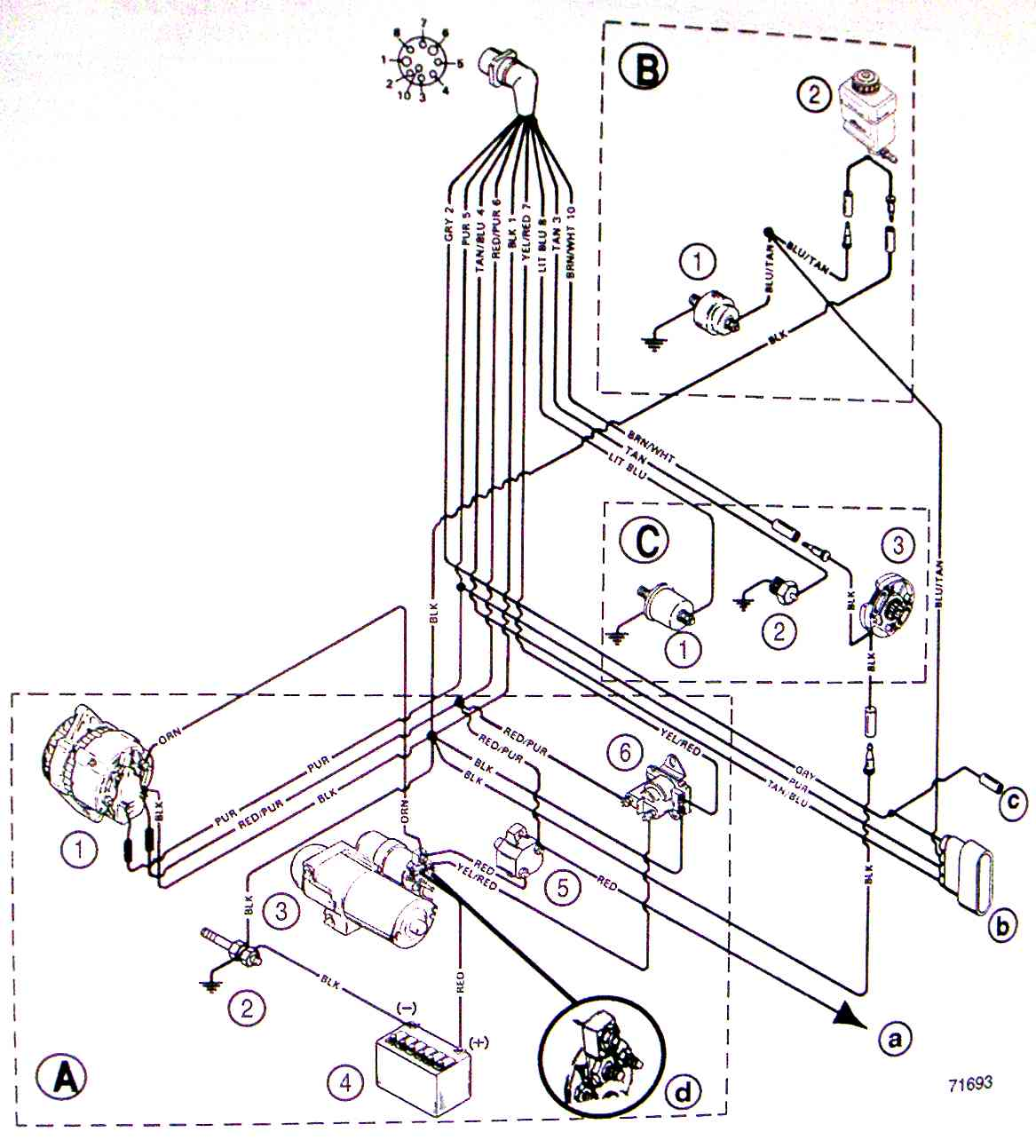 mercruiser trim pump wiring diagram wiring diagram and schematic 1980 mercruiser trim wiring page 1 iboats boating forums 585378