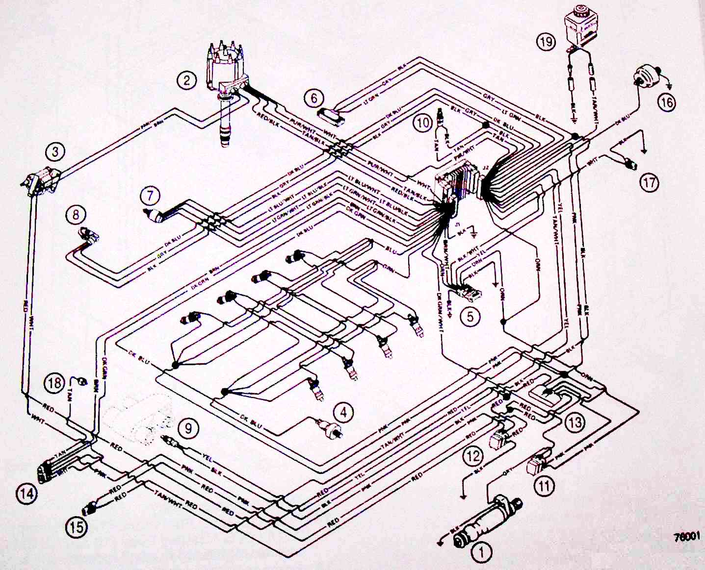 EFIWiring76001 michael's tractors (simplicity and allis chalmers garden tractors mercruiser wiring harness diagram at bayanpartner.co