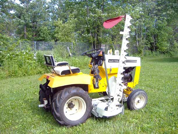 Michael 39 S Tractors Simplicity And Allis Chalmers Garden Tractors Allis 300 400 Sickle Bar Mower
