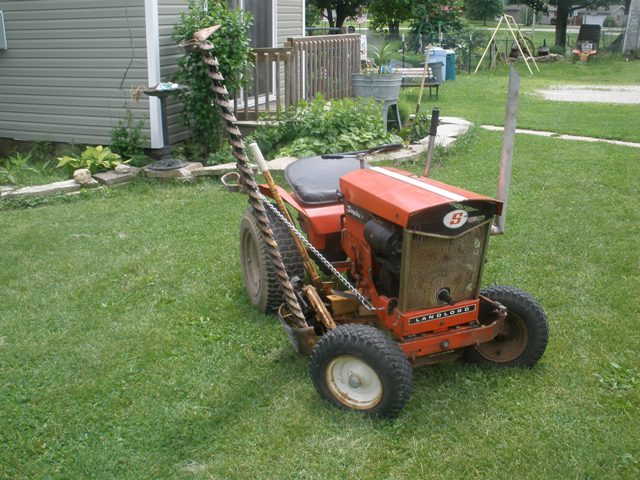 Michael 39 s tractors simplicity and allis chalmers garden tractors 210 sickle bar question for Sickle mower for garden tractor