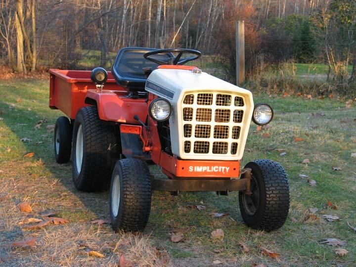 Garden Tractor Headlight : Michael s tractors simplicity and allis chalmers garden